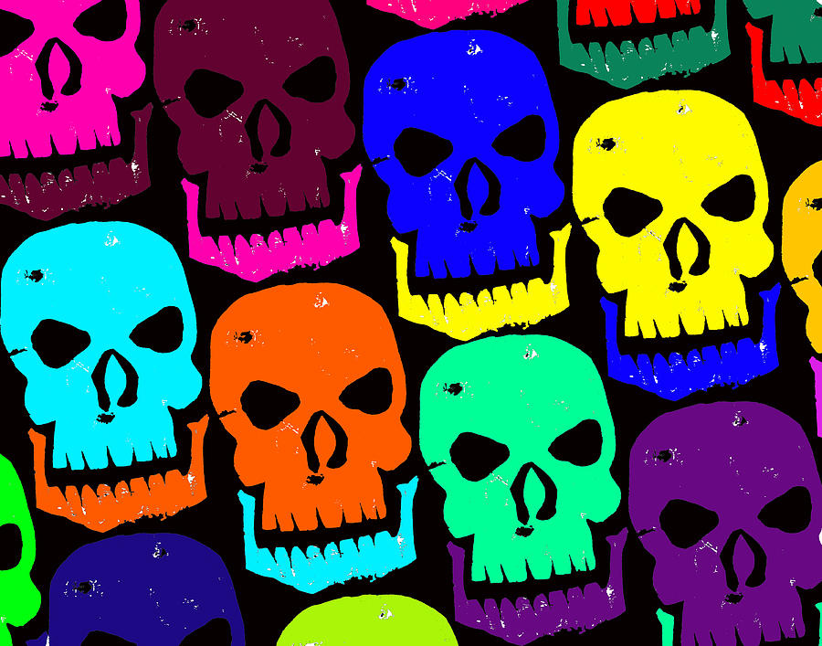 Halloween! Photograph - Skulls by Jame Hayes