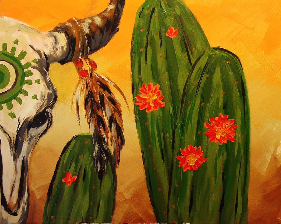 Skull Painting - Skulls8b by Paula Shaughnessy