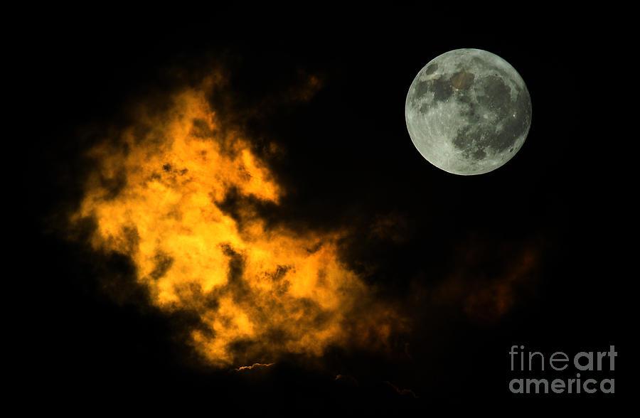 Sky And Moon Digital Art