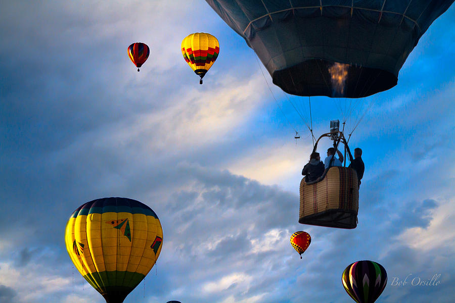 Sky Caravan Hot Air Balloons Photograph  - Sky Caravan Hot Air Balloons Fine Art Print