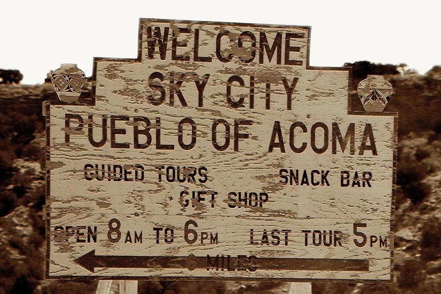Sky City Sign Photograph