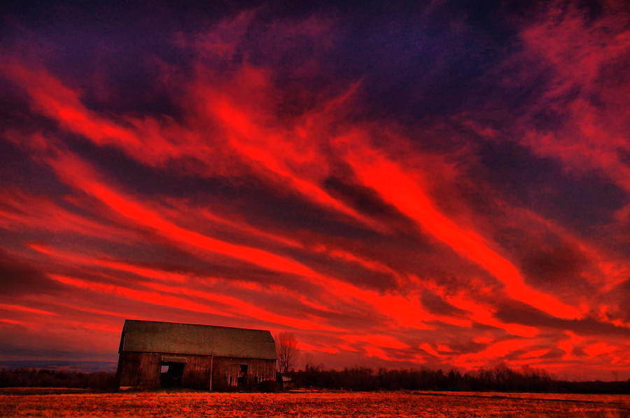 Sky On Fire Photograph  - Sky On Fire Fine Art Print