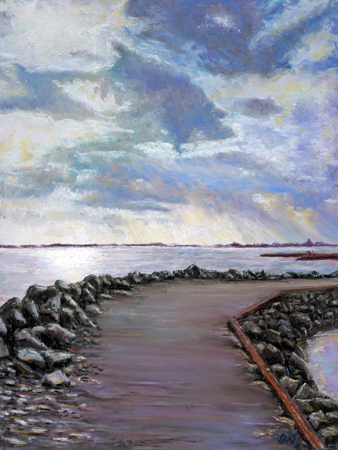 Pastel Pastel - Sky Shore A by Bob Northway