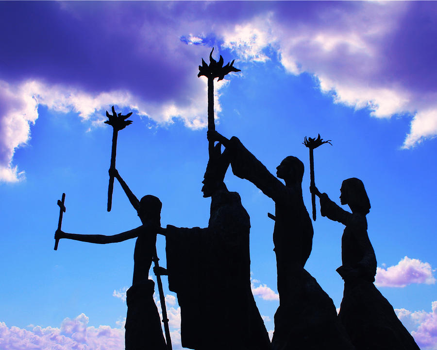 Sky Statues Photograph