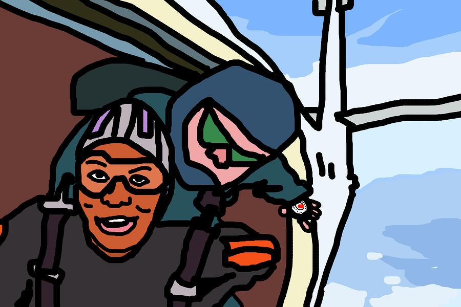 Skydiving Digital Art