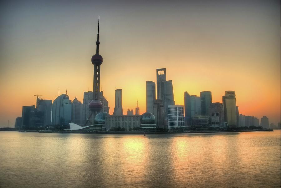 Skyline At Sunrise Photograph