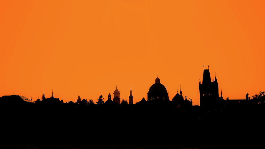 Skyline Over Charles Bridge, Prague Photograph