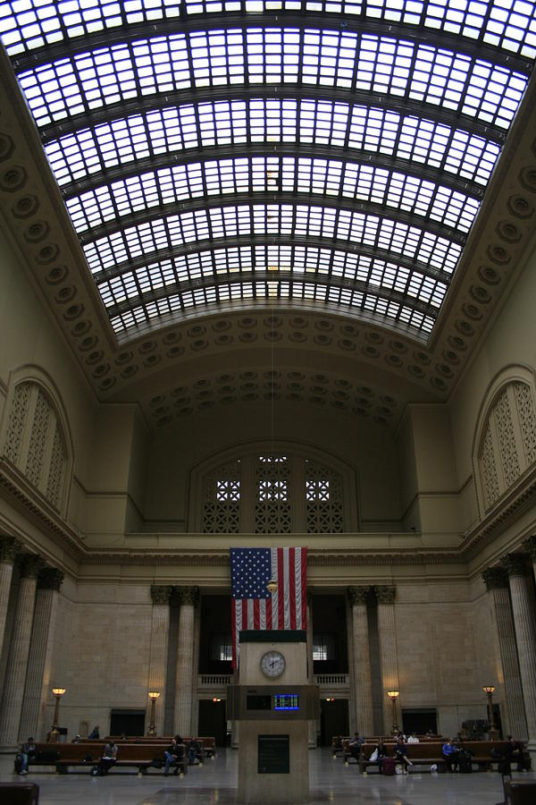 Skylit Chicago Union Station  Photograph  - Skylit Chicago Union Station  Fine Art Print