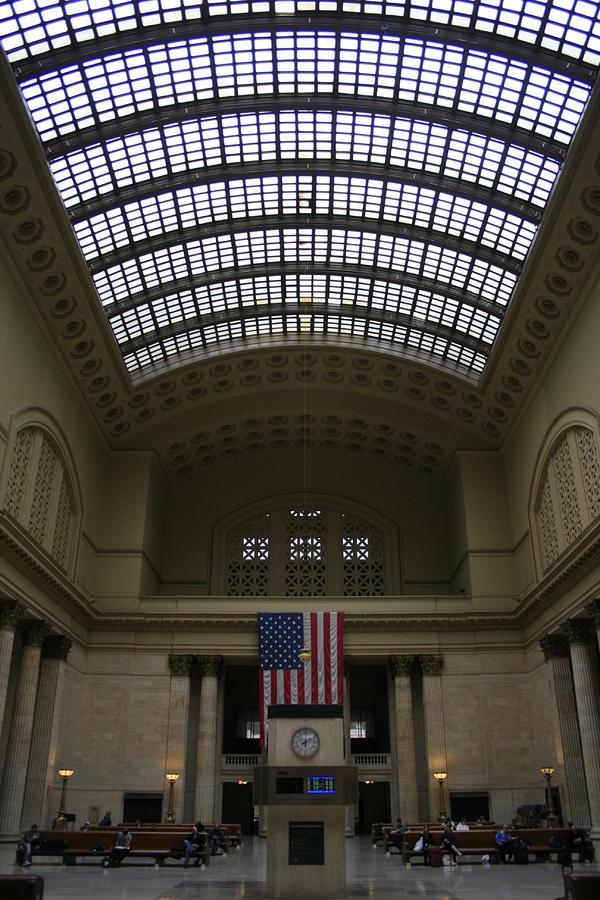 Skylit Chicago Union Station  Photograph