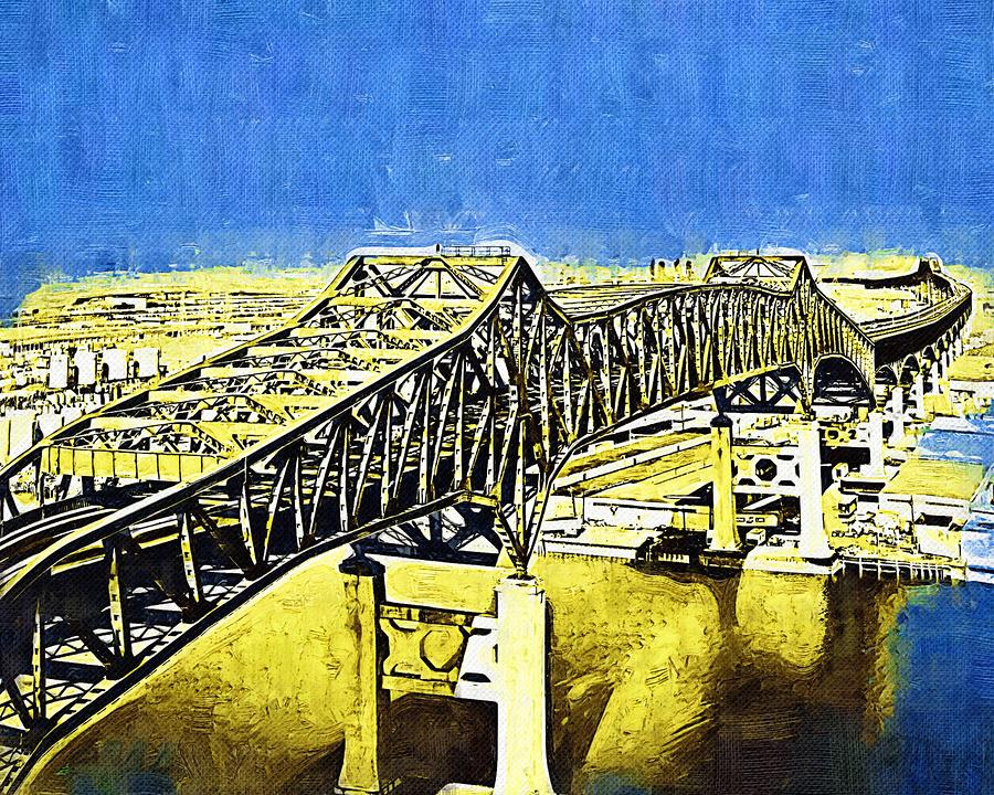 Skyway Terror Mixed Media  - Skyway Terror Fine Art Print