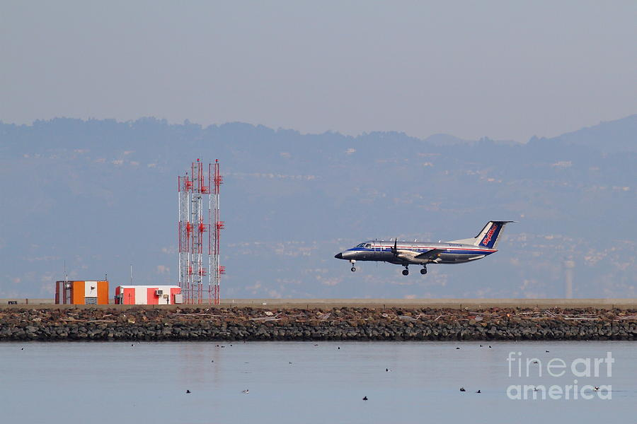 Skywest Airlines Jet Airplane At San Francisco International Airport Sfo . 7d12127 Photograph