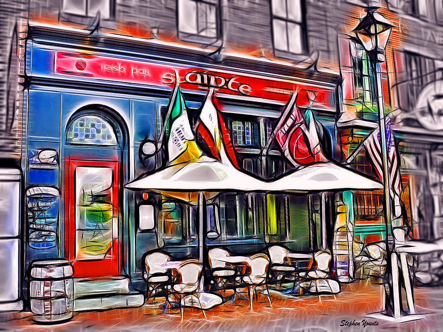 Slainte Irish Pub And Restaurant Mixed Media