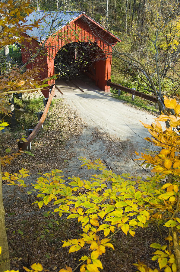 Slaughter House Bridge And Fall Colors Photograph