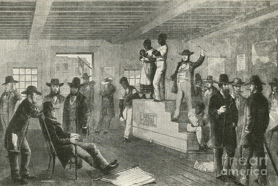 Slave Auction, 1861 Photograph  - Slave Auction, 1861 Fine Art Print