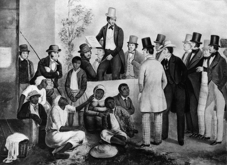 1850s Photograph - Slavery Auction, In The United States by Everett