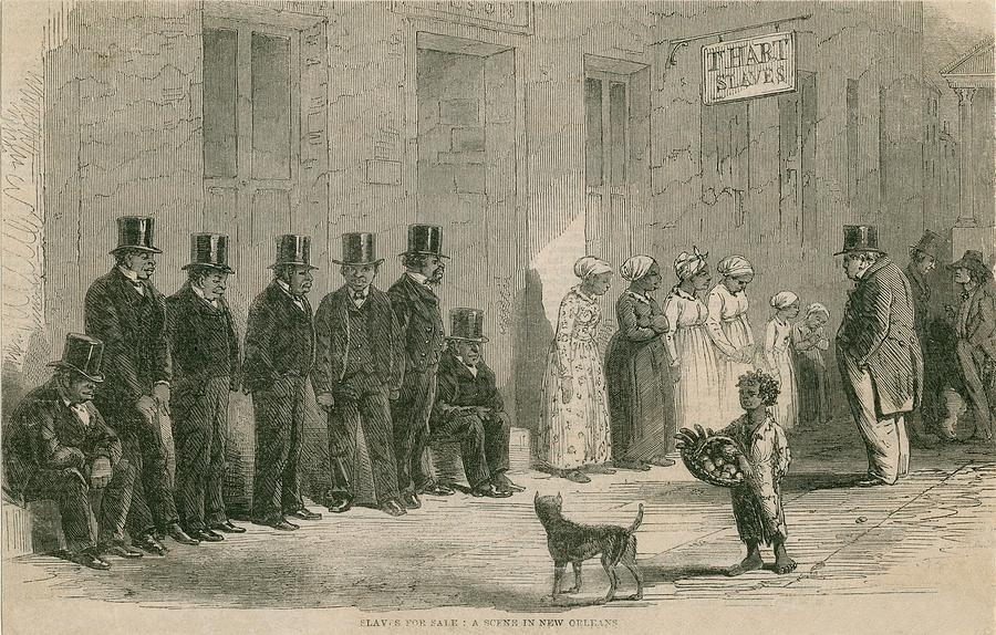 Slaves For Sale In New Orleans In April Photograph