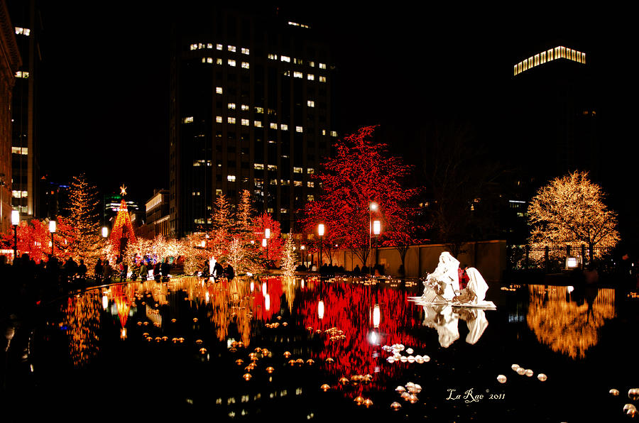 Slc Temple Nativity Pond Photograph