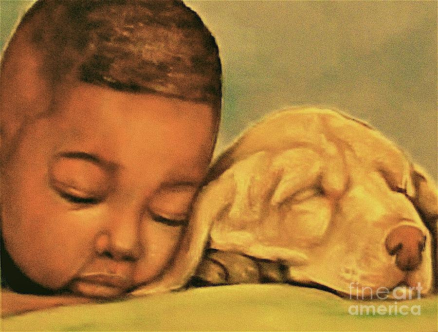 Sleeping Beauties Pastel  - Sleeping Beauties Fine Art Print
