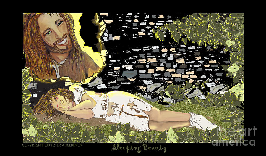 Sleeping Beauty Digital Art  - Sleeping Beauty Fine Art Print