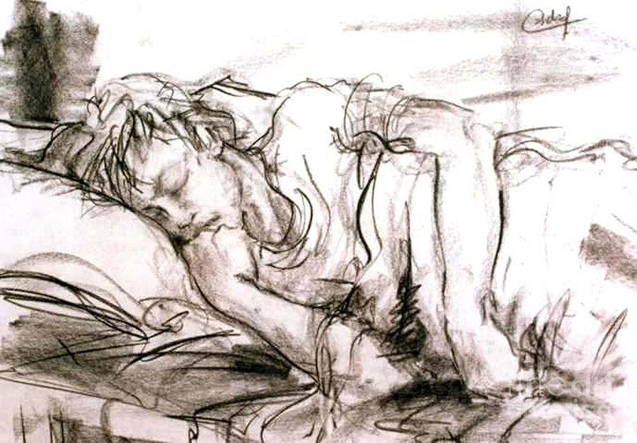 Sleeping Boy Painting