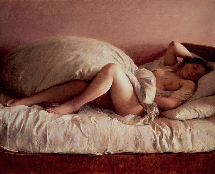 Sleeping Woman Painting  - Sleeping Woman Fine Art Print