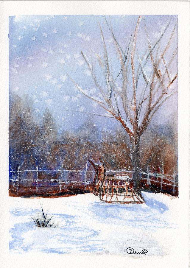 Sleigh Painting - Sleigh Ride by Wendy Cunico