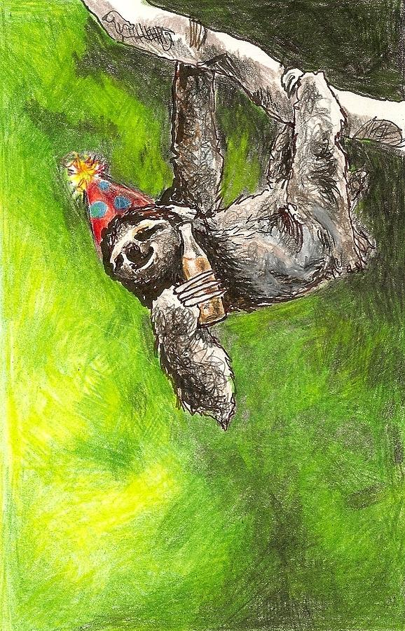 Sloth Birthday Party Drawing