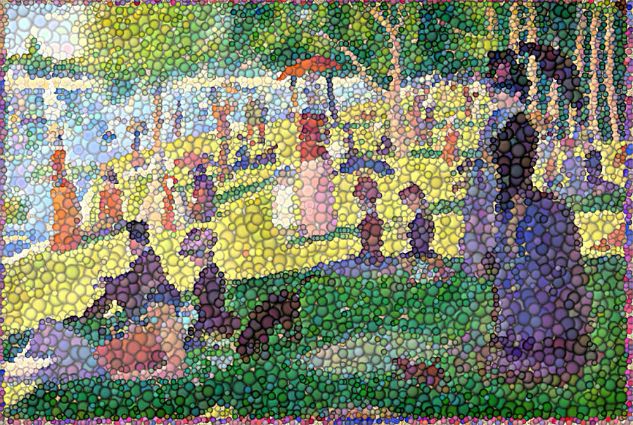 Small Bubbly Sunday On La Grande Jatte Digital Art  - Small Bubbly Sunday On La Grande Jatte Fine Art Print