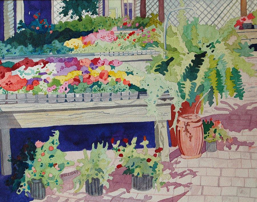 Small Garden Scene Painting