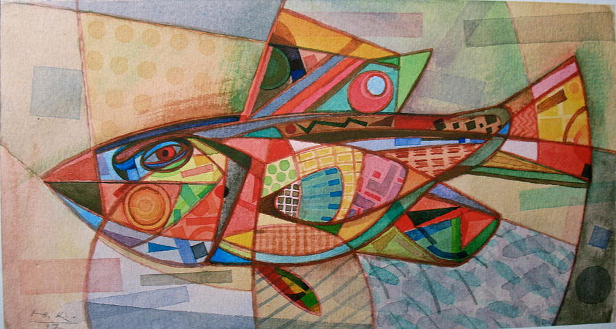Small Motley Fish. 1997 Painting
