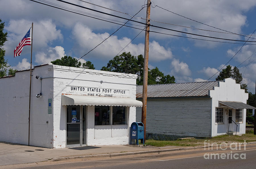 Small Town Post Office Photograph  - Small Town Post Office Fine Art Print