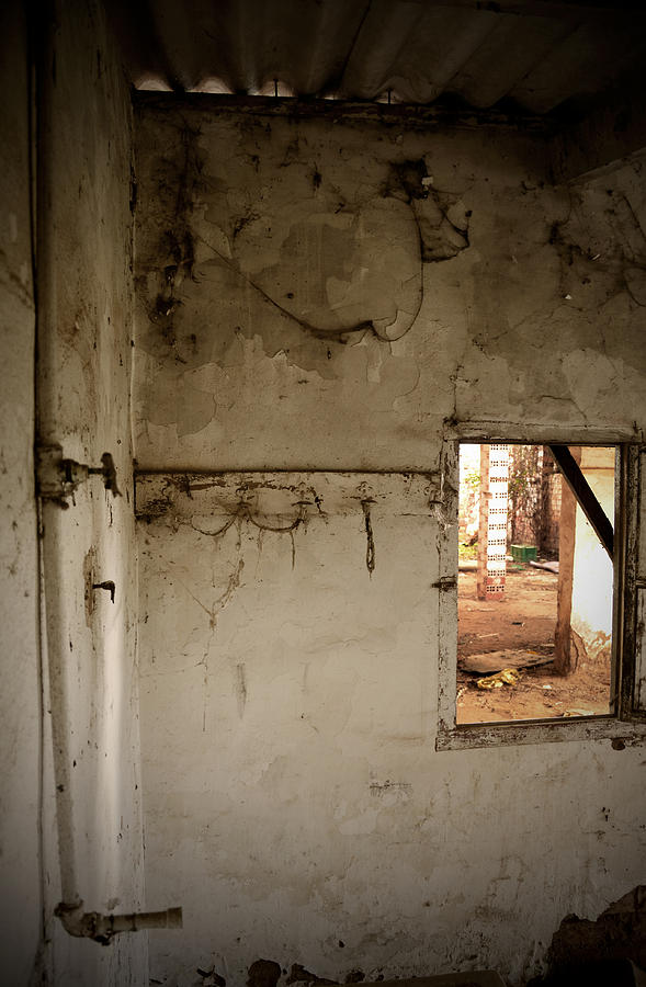 Small Window In An Abandoned Kitchen Photograph  - Small Window In An Abandoned Kitchen Fine Art Print