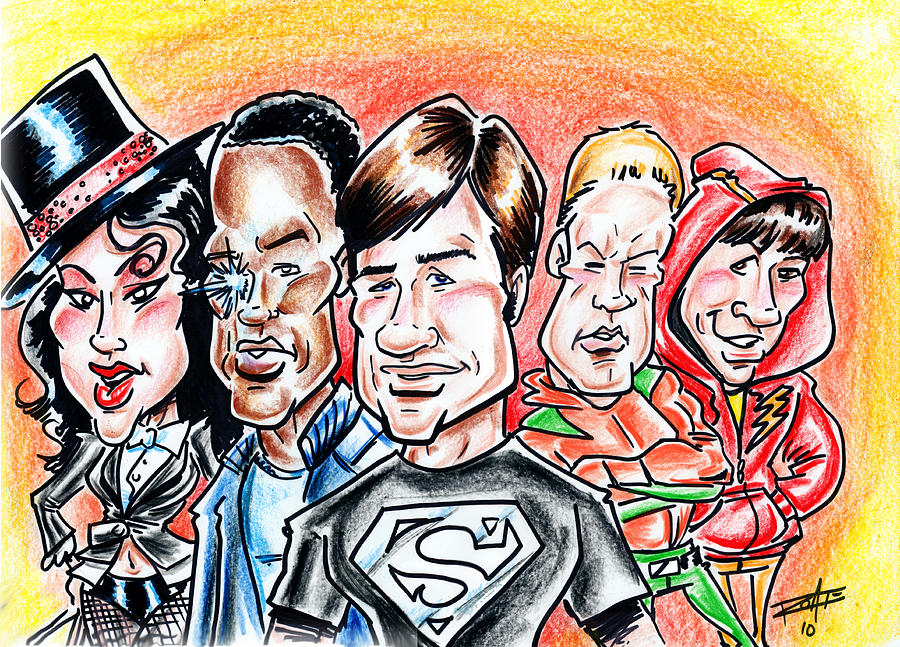 Big Mike Roate Drawing - Smallville by Big Mike Roate