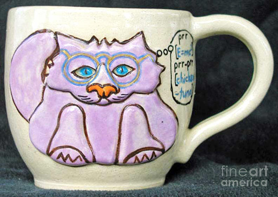 Smart Kitty Mug Photograph  - Smart Kitty Mug Fine Art Print