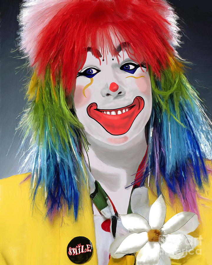 Smiling Clown Painting - Smiling Clown by Methune Hively