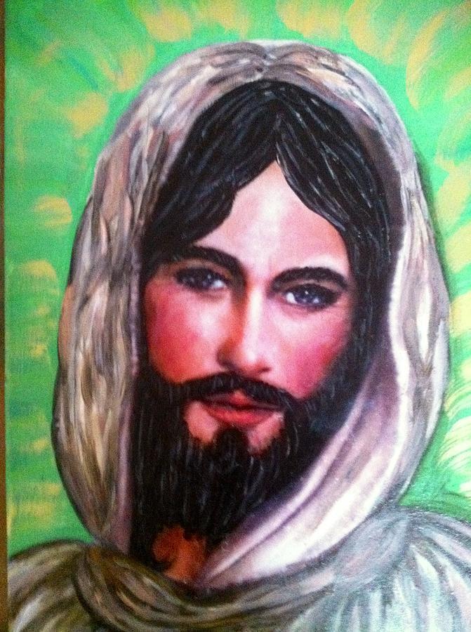 Smiling Jesus Painting