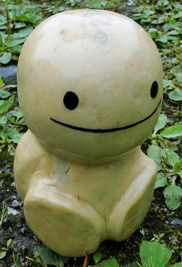 Smiling Statue Sculpture