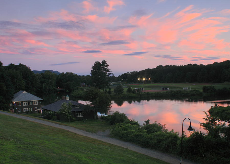 Smith College Paradise Pond Sunset Photograph