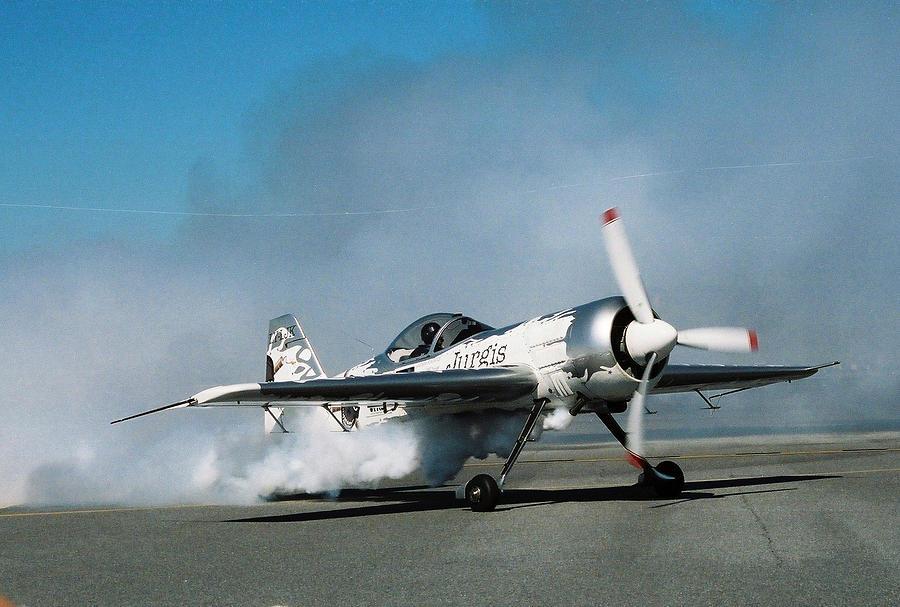 Plane Photograph - Smoke All Around by Clint Day