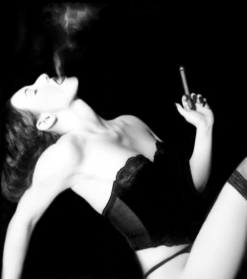 Smoke And Seduction - Self Portrait Photograph  - Smoke And Seduction - Self Portrait Fine Art Print