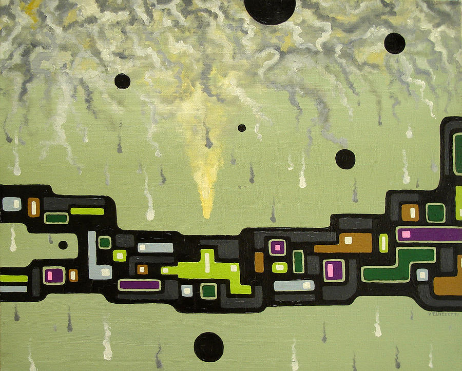 Smoke Painting - Smoke Factory - 2000 by Valerie Benedetti