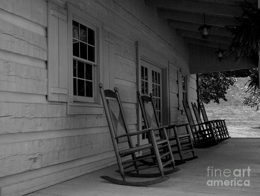 Smokey Mountain Front Porch Photograph  - Smokey Mountain Front Porch Fine Art Print