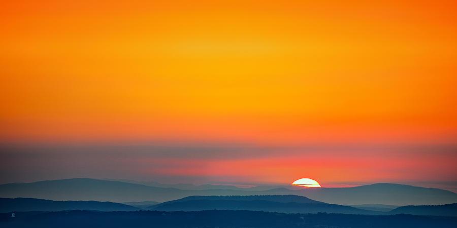 Mountains Photograph - Smokie Sunrise by Steven Llorca