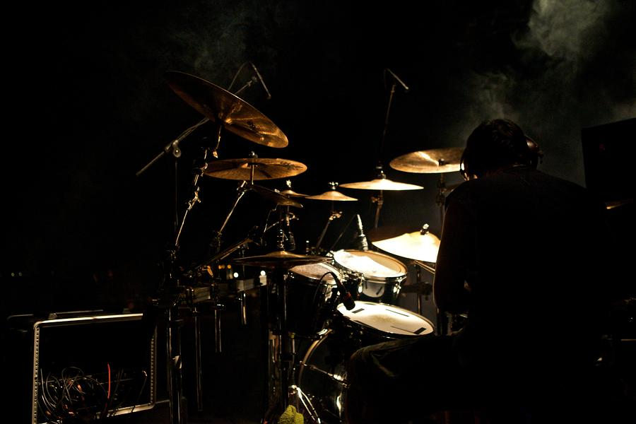 Smoking Drummer Photograph