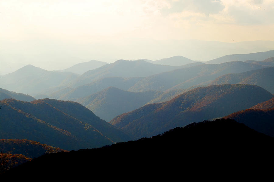 Smoky Mountain Overlook Great Smoky Mountains Photograph