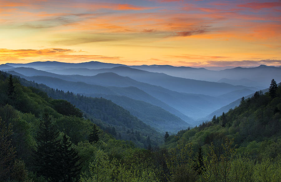 Smoky Mountains Sunrise - Great Smoky Mountains National Park Photograph  - Smoky Mountains Sunrise - Great Smoky Mountains National Park Fine Art Print