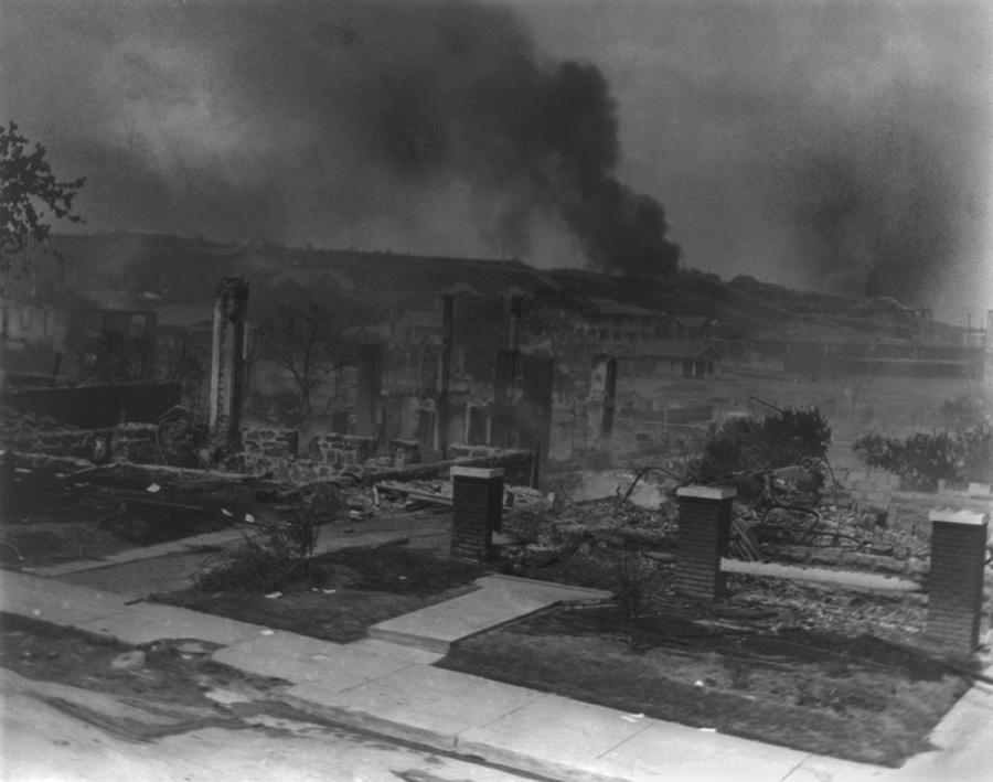 Smoldering Ruins Of African Americans Photograph