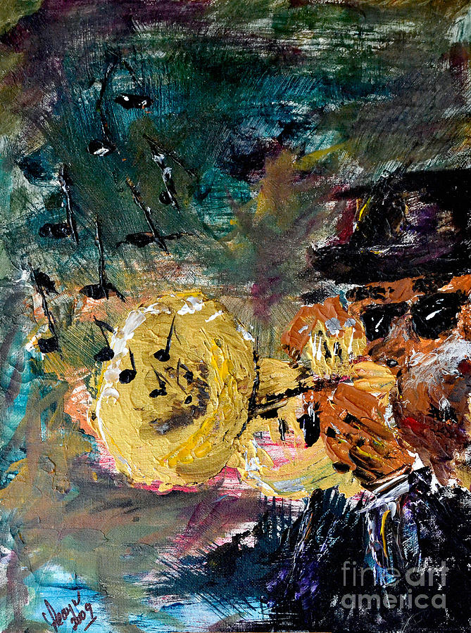 Smooth Jazz Painting  - Smooth Jazz Fine Art Print