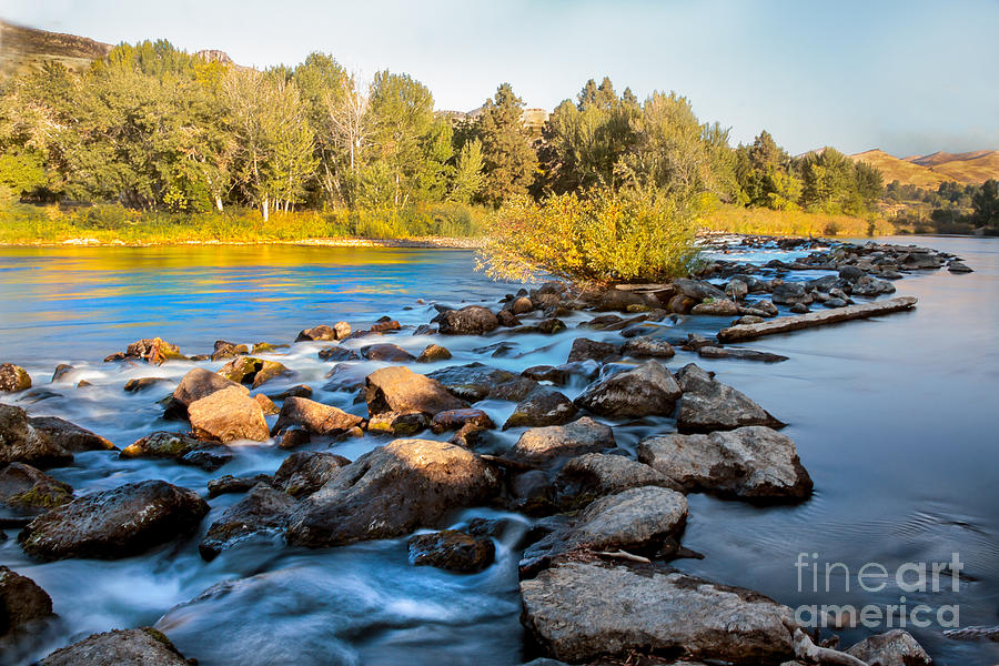 Smooth Rapids Photograph  - Smooth Rapids Fine Art Print