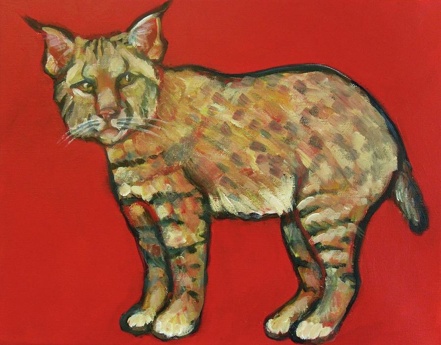 Smug Bobcat Painting